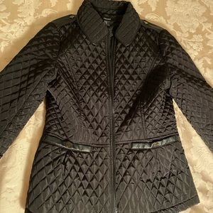 Forever 21 quilted black zip up jacket